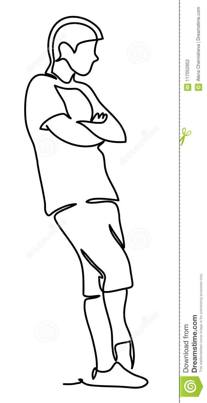 how to draw crossing arms