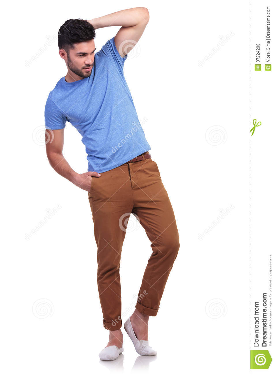 Full Body Of A Relaxed Man Looking Away Stock Photos - Image: 37224283
