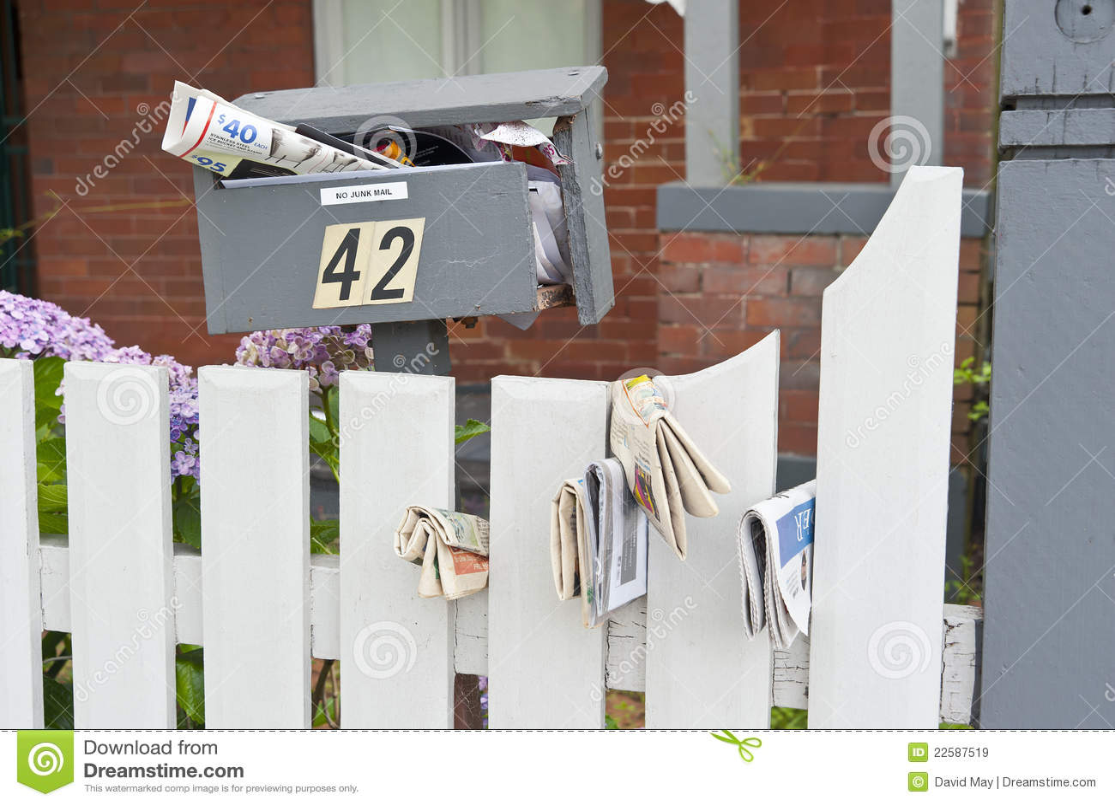 Full Broken Mailbox Junk Mail Royalty Free Stock Images ...