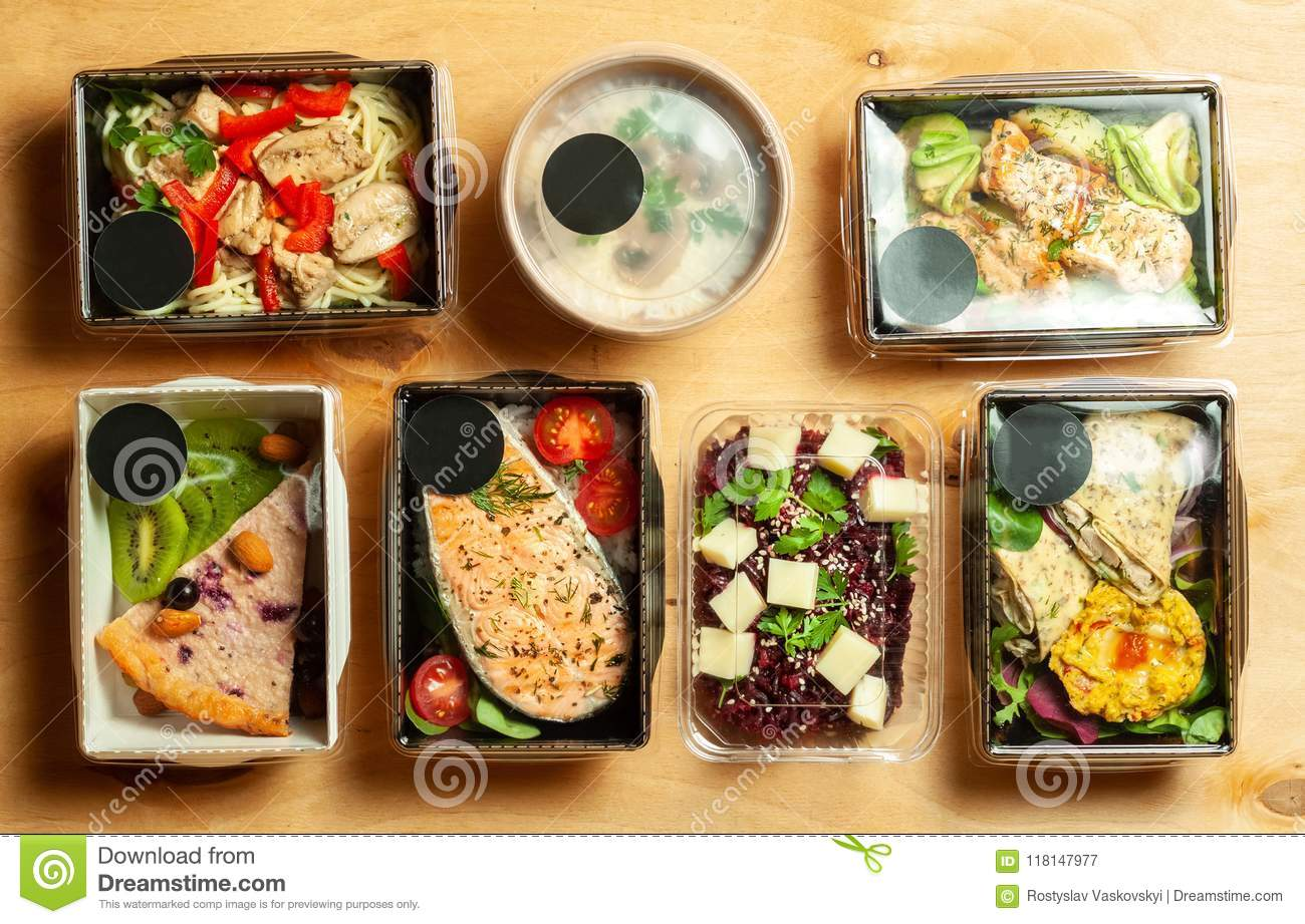A Full Daily Diet Of Healthy Eating  Stock Image - Image of