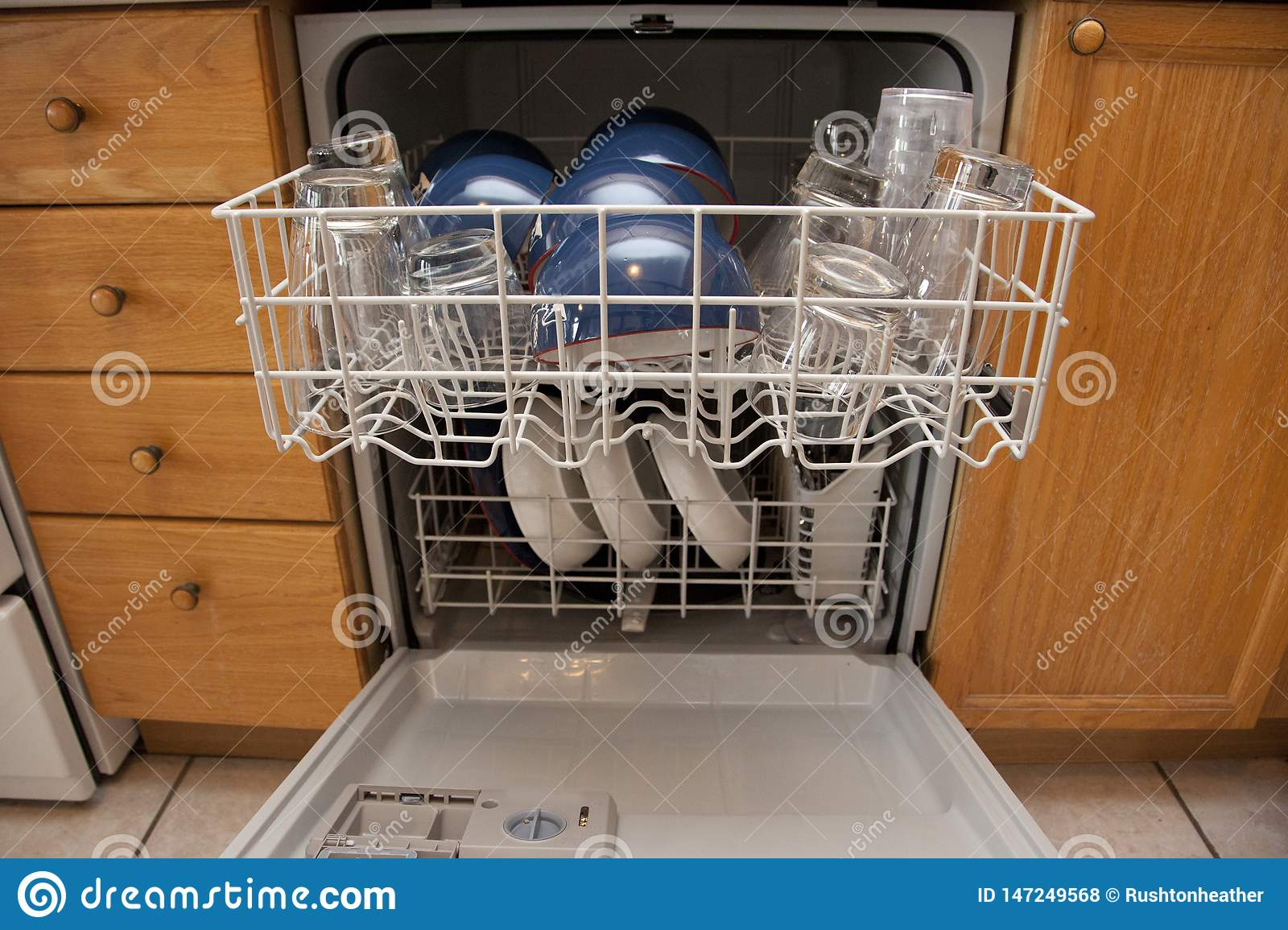 Full Dishwasher In Apartment Stock Photo - Image of concept ...
