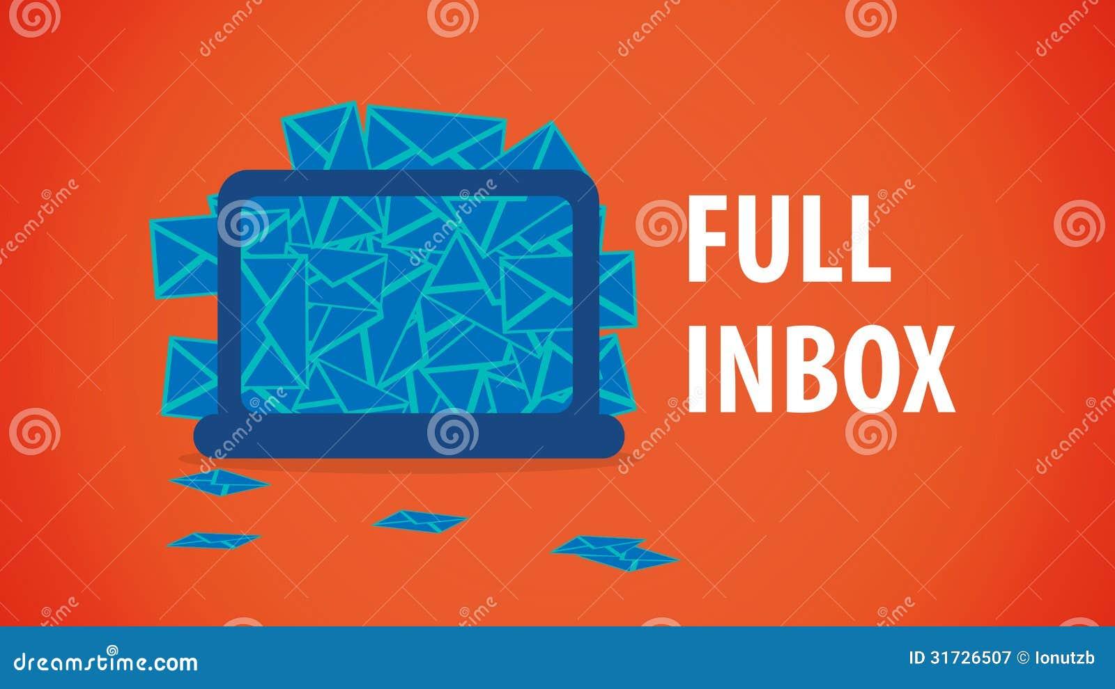 Full Email Desktop Inbox stock vector. Illustration of ...