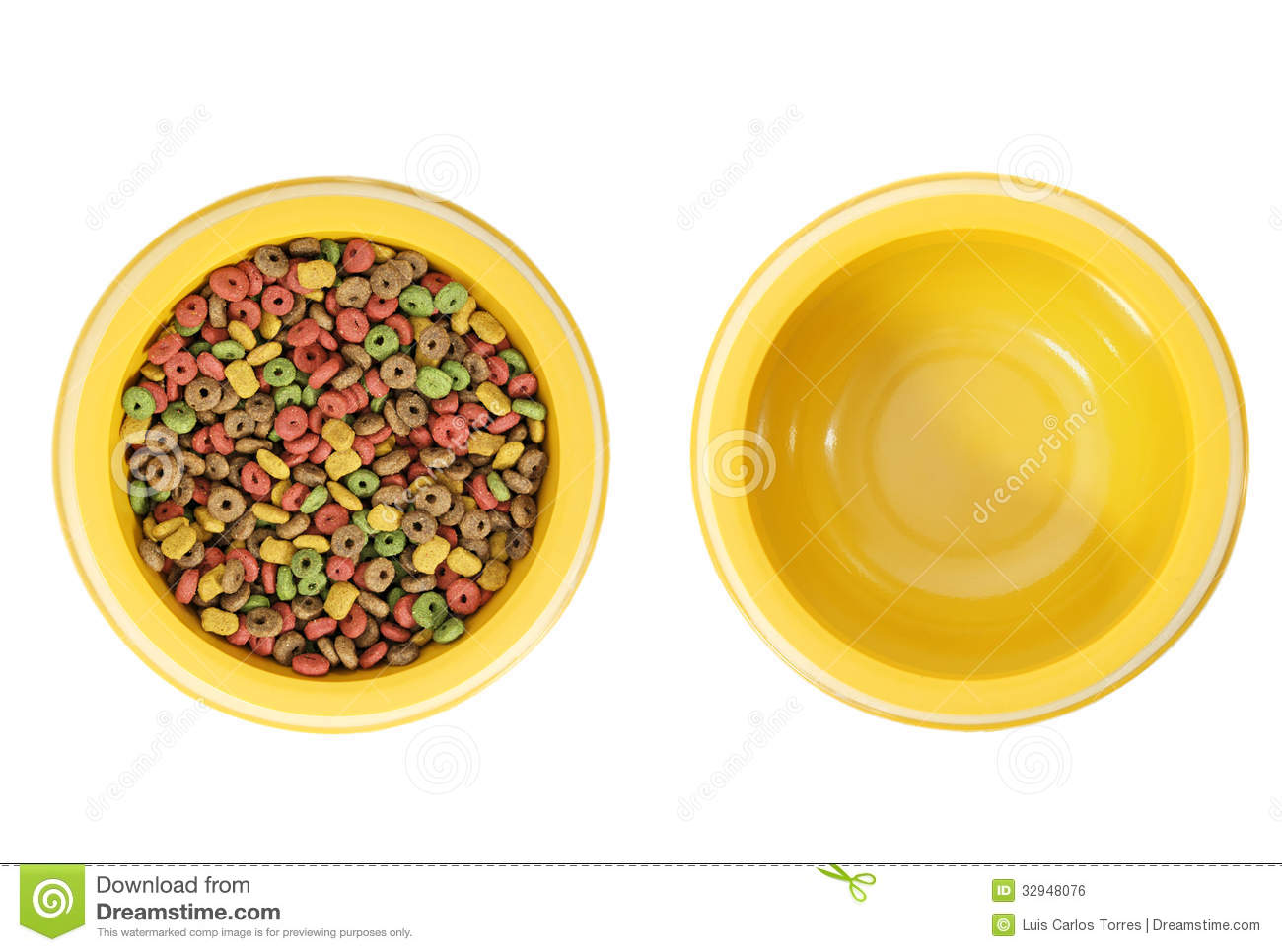 Http Www Dreamstime Com Royalty Free Stock Image Full Empty Dog Bowl Isolated Bowls One Food Other Image32948076
