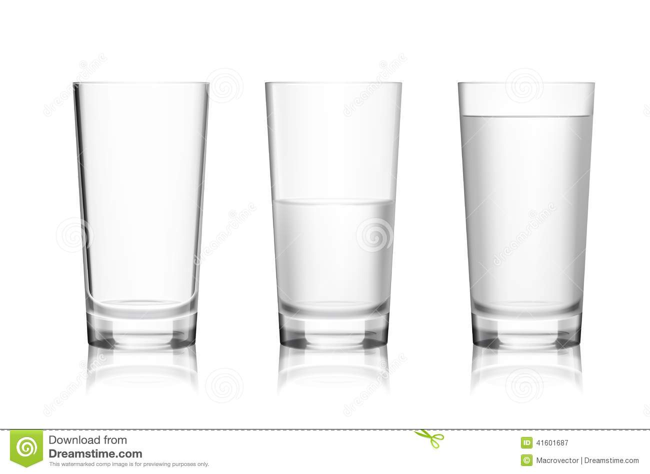 Full and empty glass