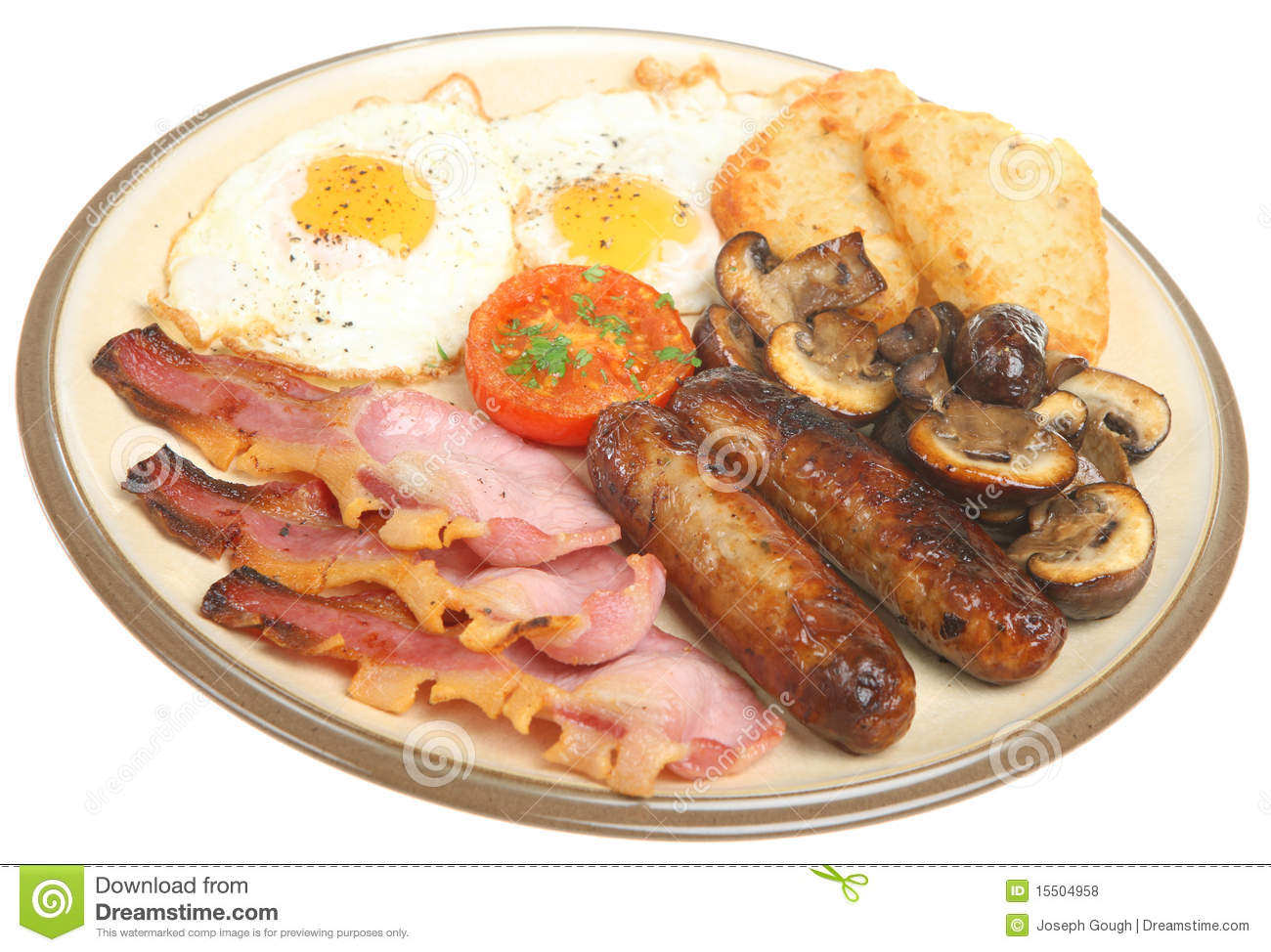Full English Fried Breakfast Royalty Free Stock Photos - Image ...