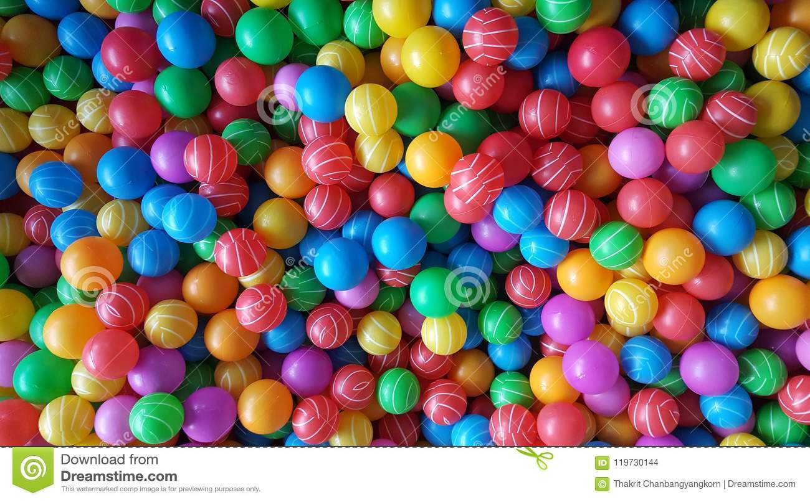 Many colorful balls