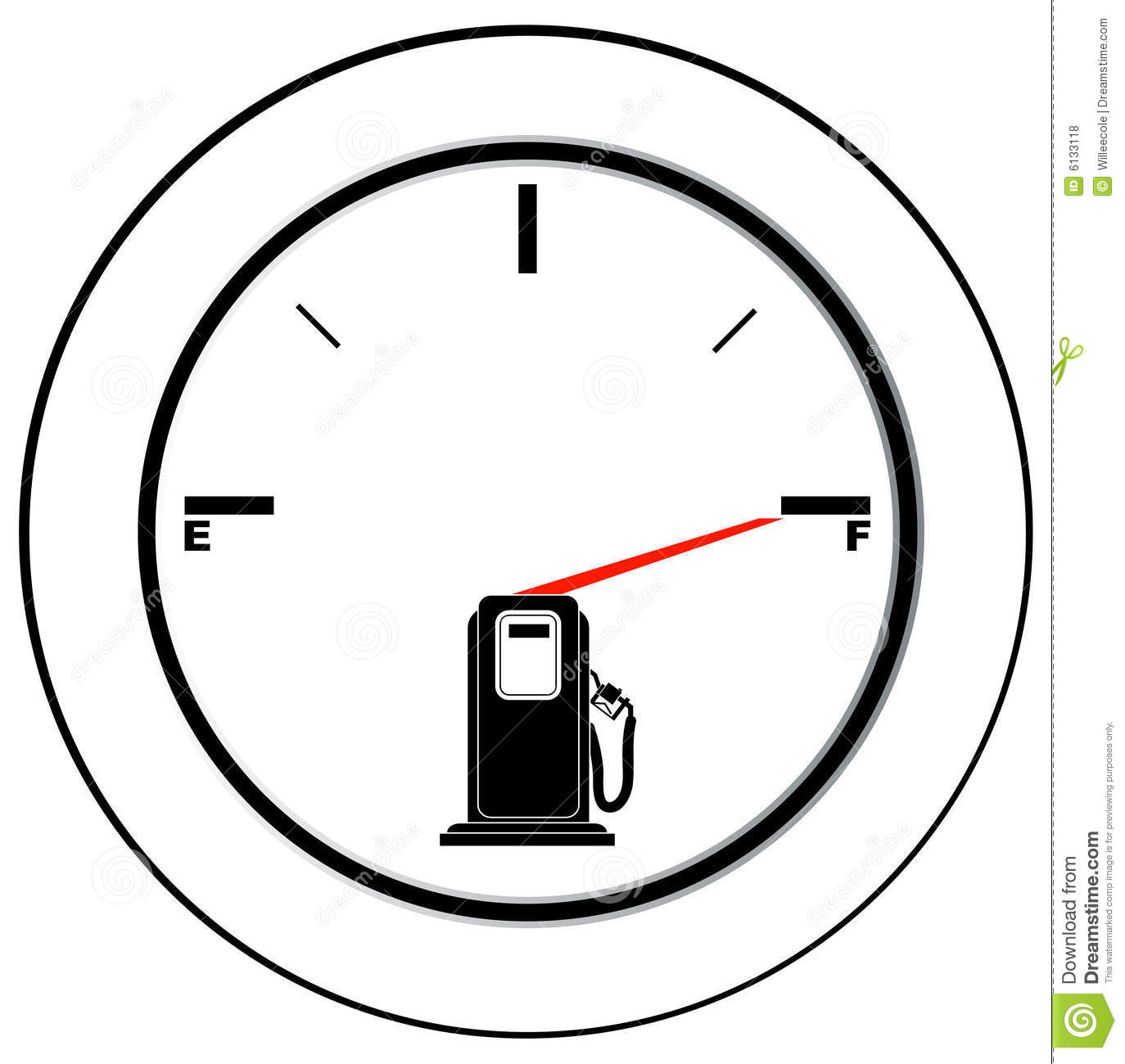 full fuel gauge stock vector  illustration of efficient