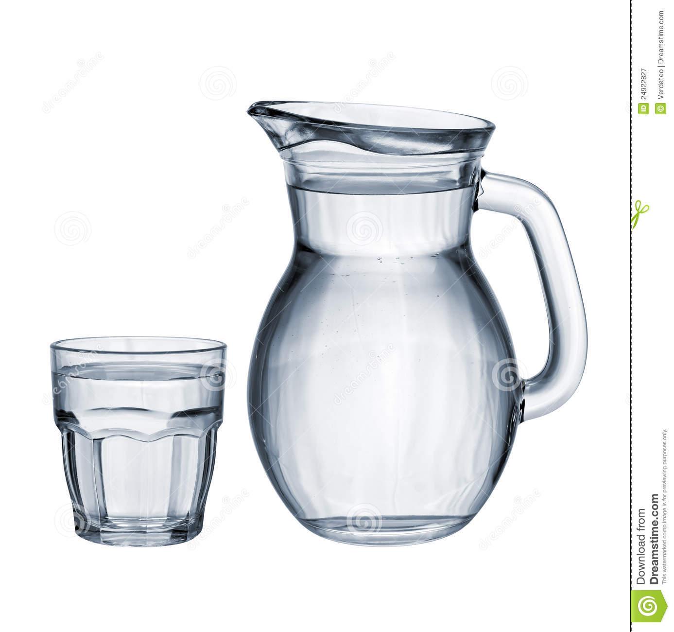 Full Glass And Jug Isolated Royalty Free Stock Photography - Image ...