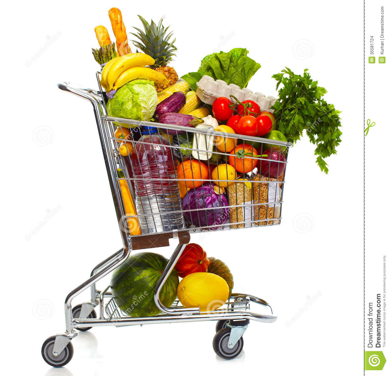 Half Full Grocery Cart on Quotesfabcom