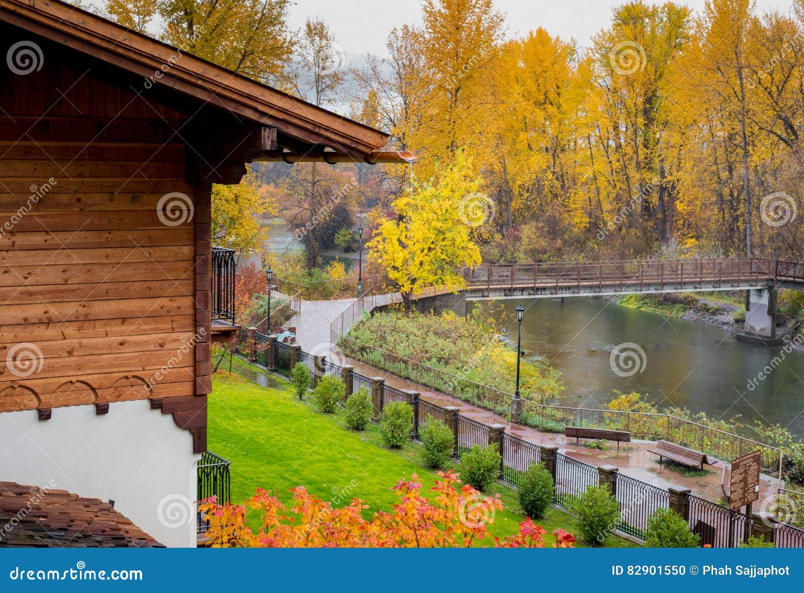 Full höst i Leavenworth, Washington