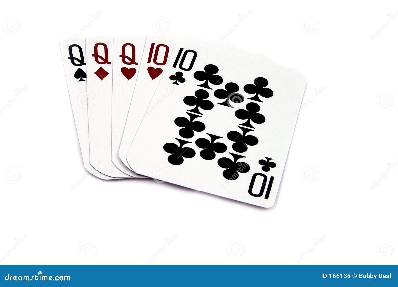 full house beats flush poker chips