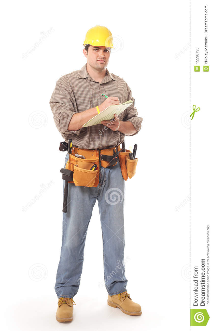 full length construction worker stock image image of engineer