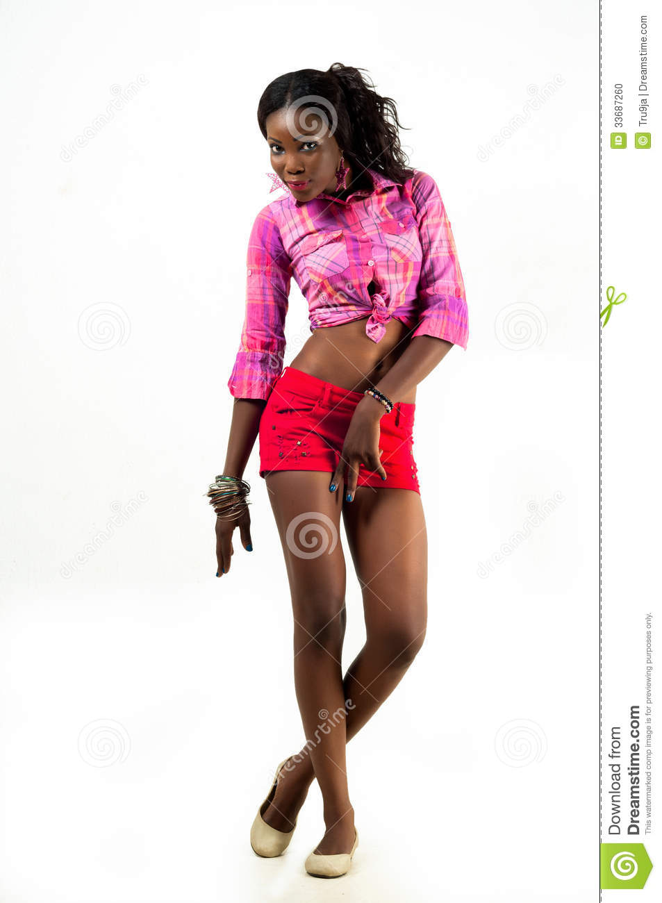 Young African American Woman Fashion Model Royalty-Free ...