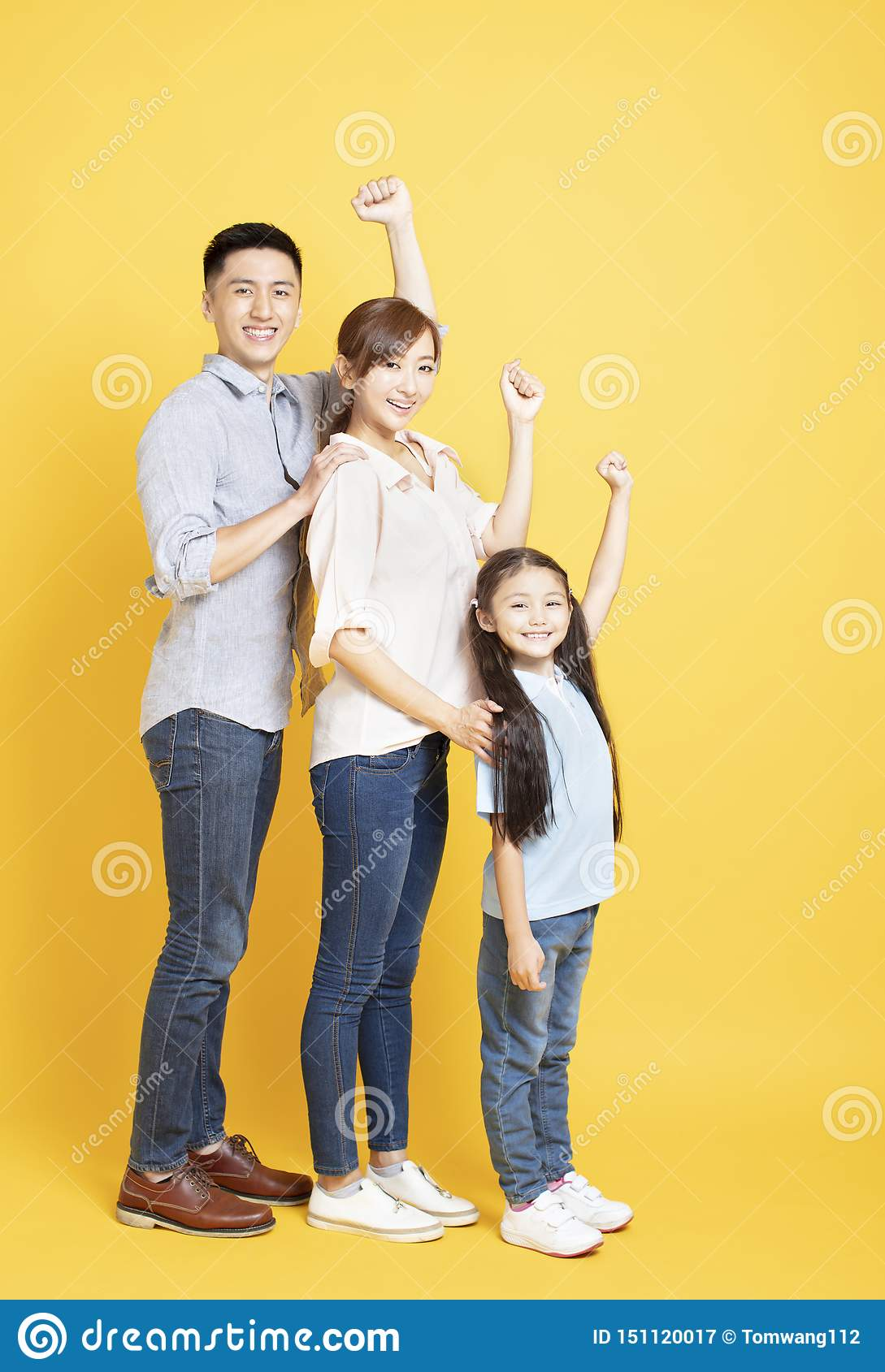Full length of Happy young Family