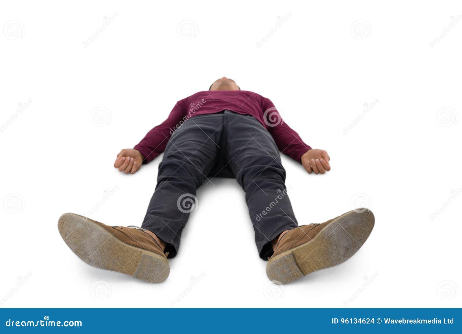 Full length of man lying down