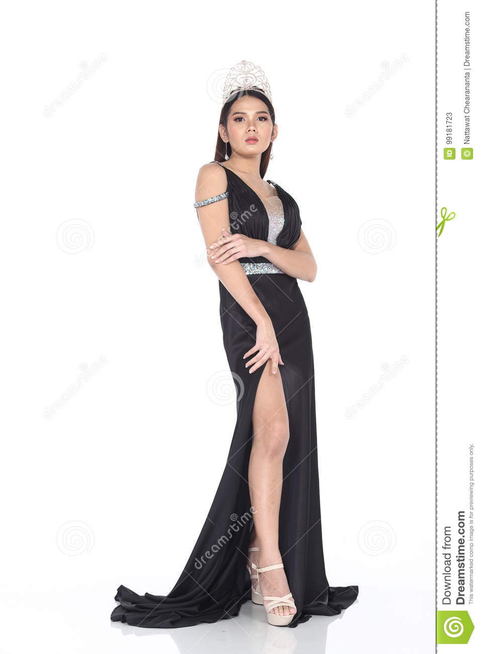 Miss Transgender Pageant Contest In Evening Ball Gown Long Ball