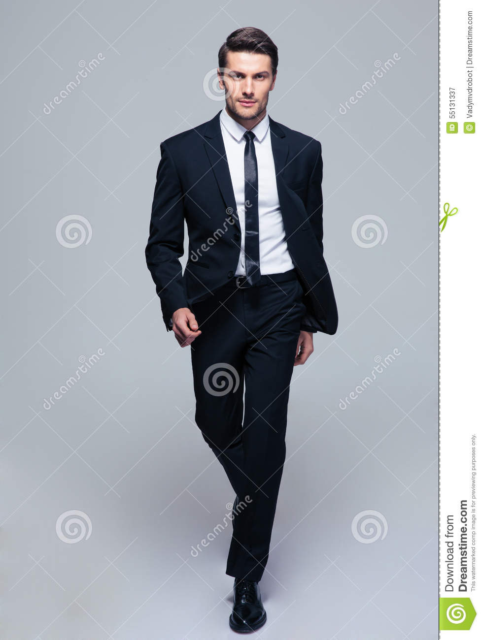 full length portrait of a fashion male model stock photo