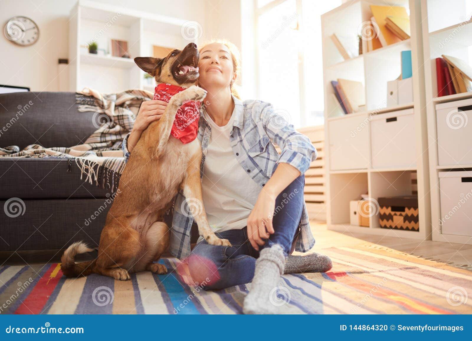 Woman with Shepherd Dog
