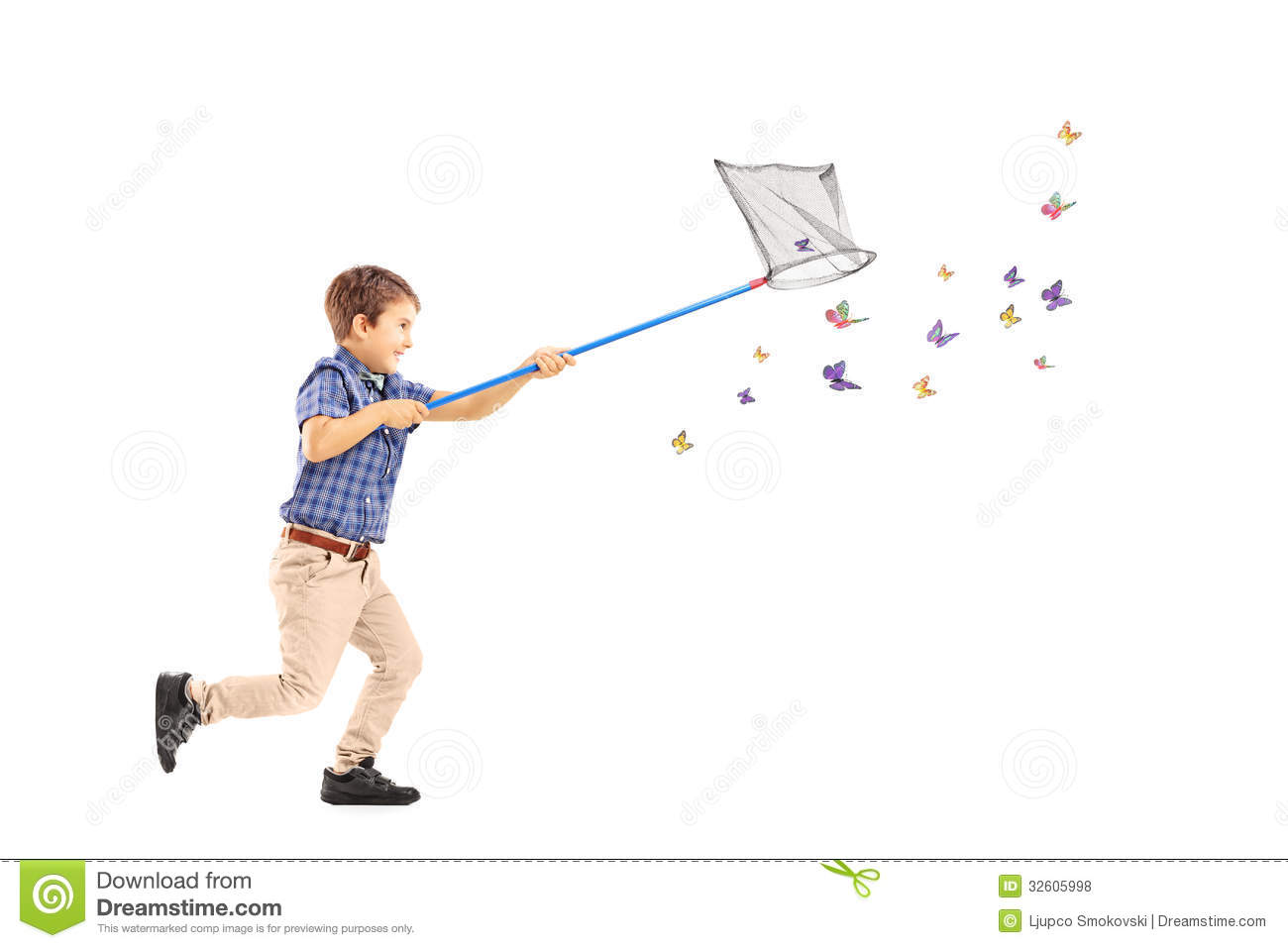 ... And Catching Butterflies Royalty Free Stock Photos - Image: 32605998