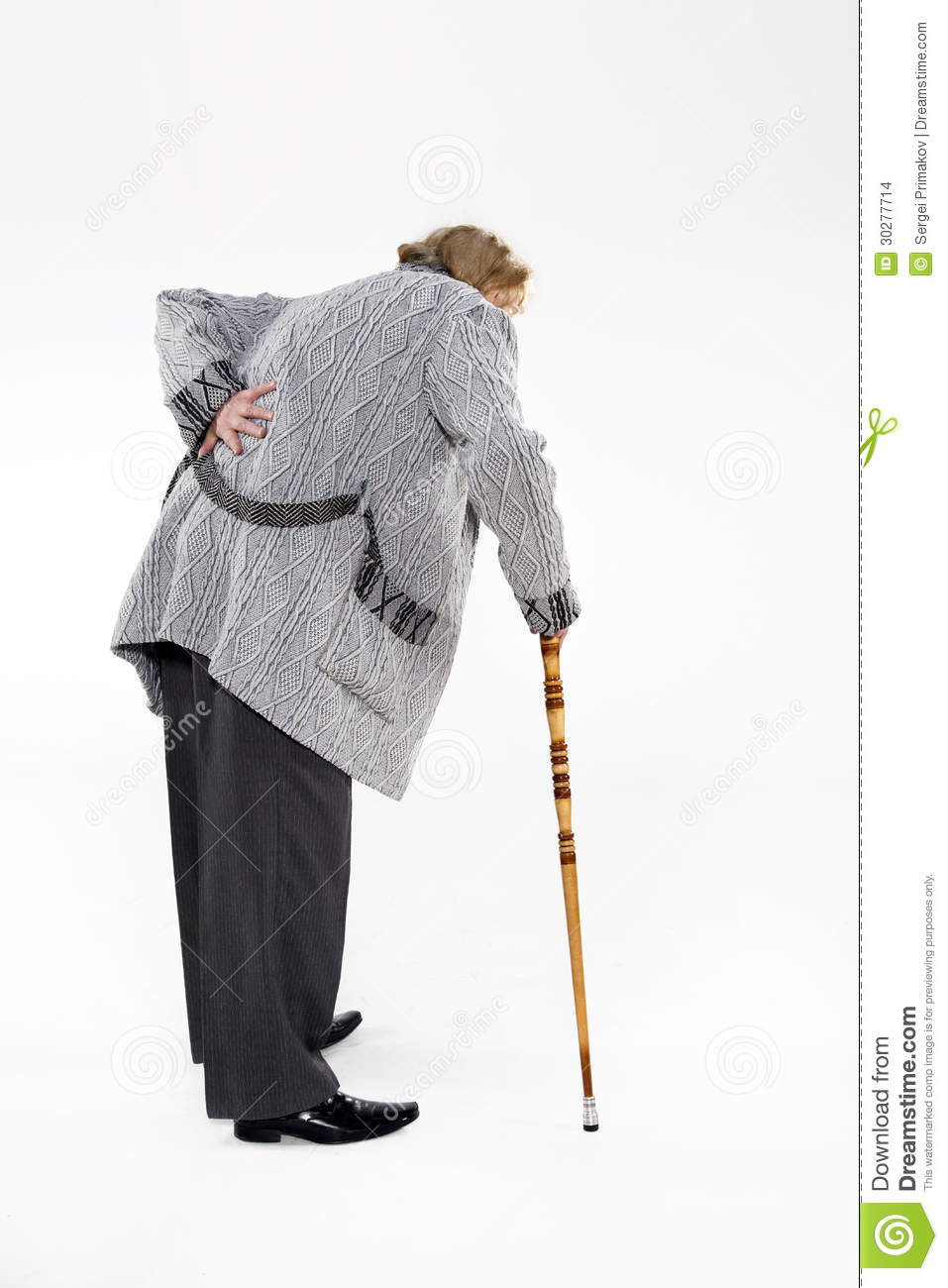 Old Man With A Cane Stock Images - Image: 30277714