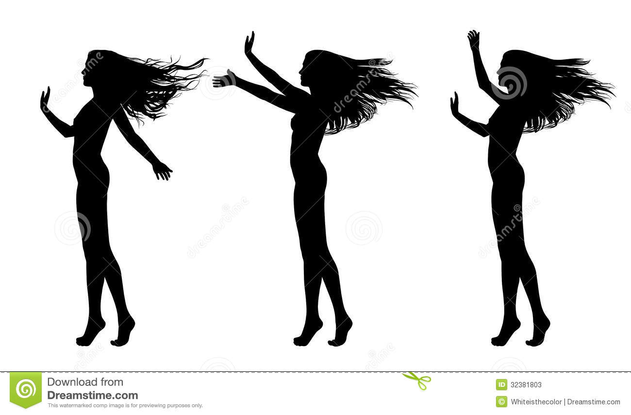 Silhouette Of Male Dancer Stock Photography - Image: 34284132