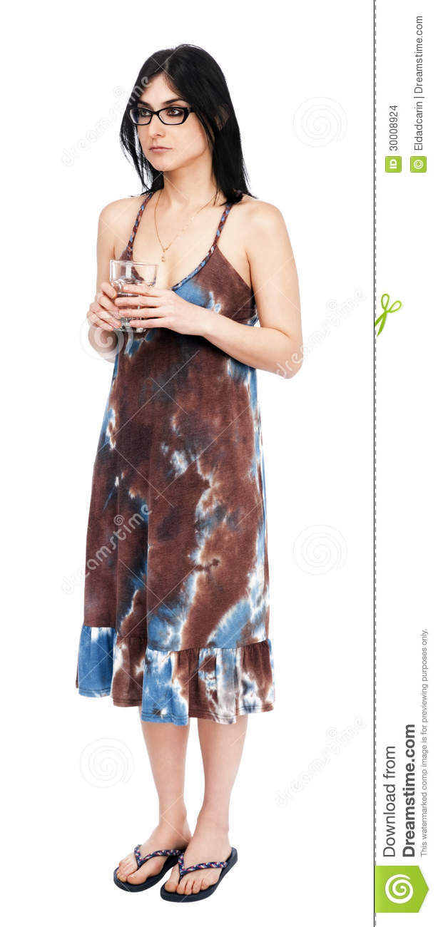 801fb7c29 Adult Woman Holding A Glass Of Water Stock Photo - Image of isolated ...
