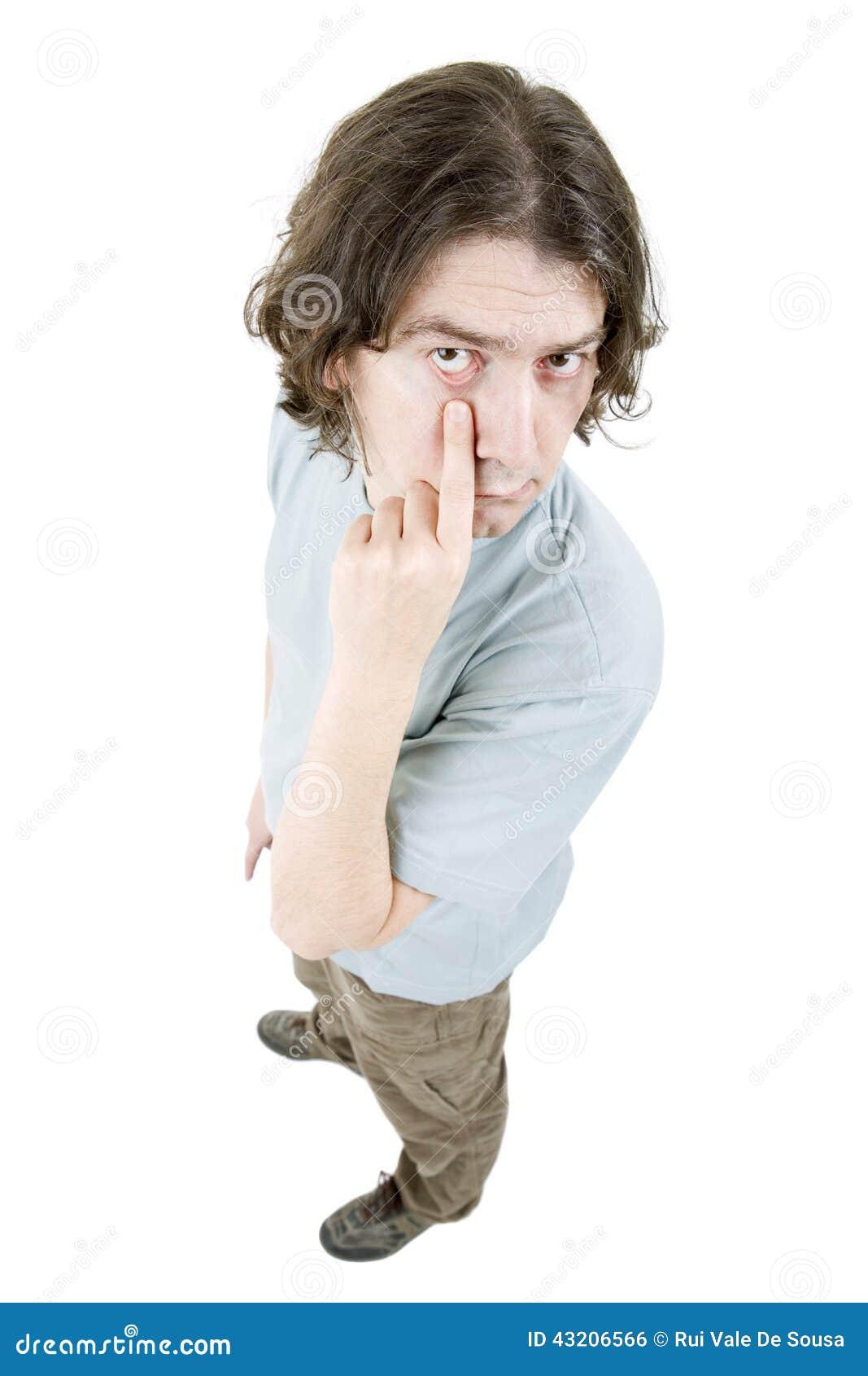 Download Full man för huvuddel arkivfoto. Bild av folk, grabb - 43206566