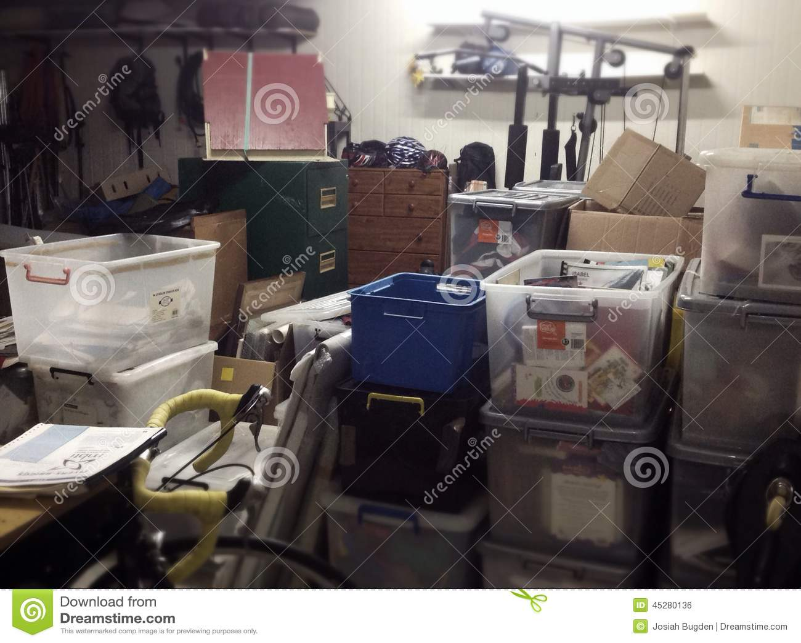 Full Messy Storage Shed Stock Photo Image 45280136