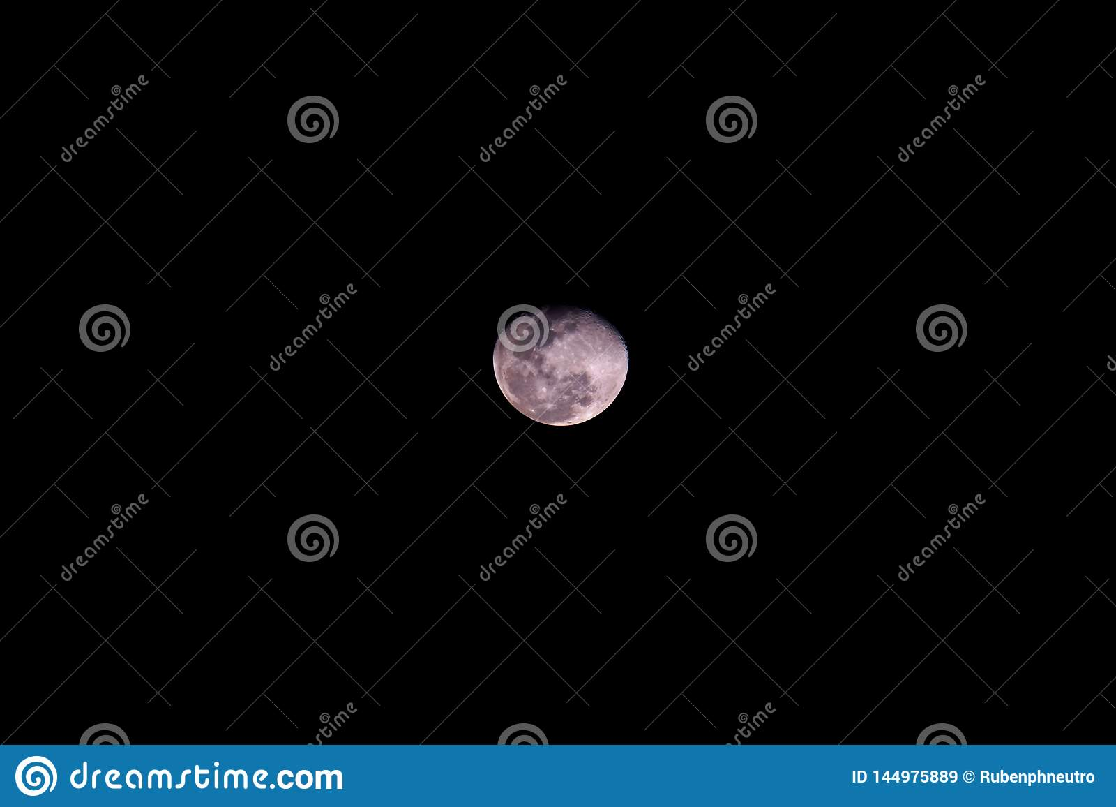 Full moon black background backdrop detail surface center moon pink moonlight