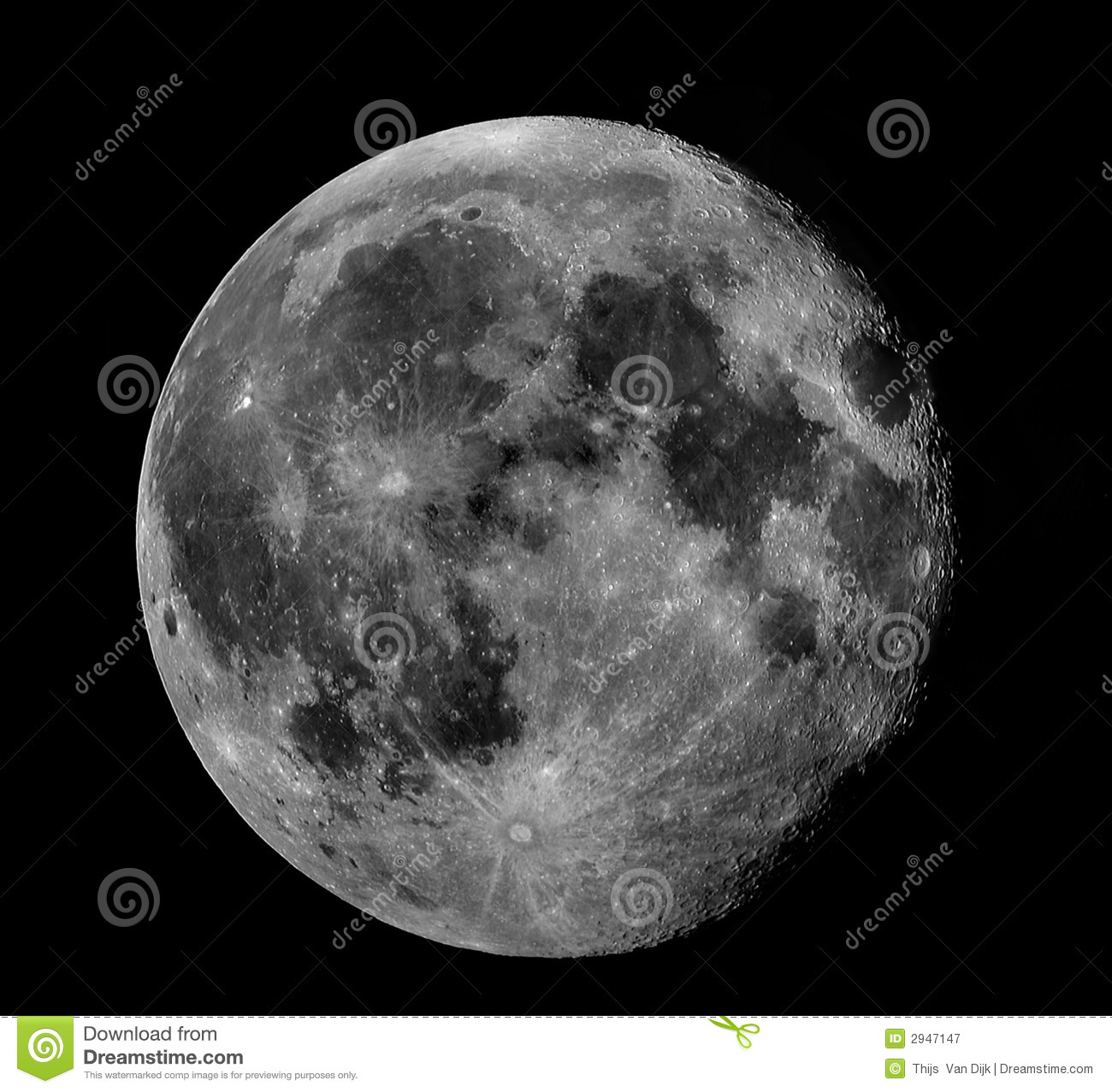 Full Moon (Black & White) Royalty Free Stock Photography ...