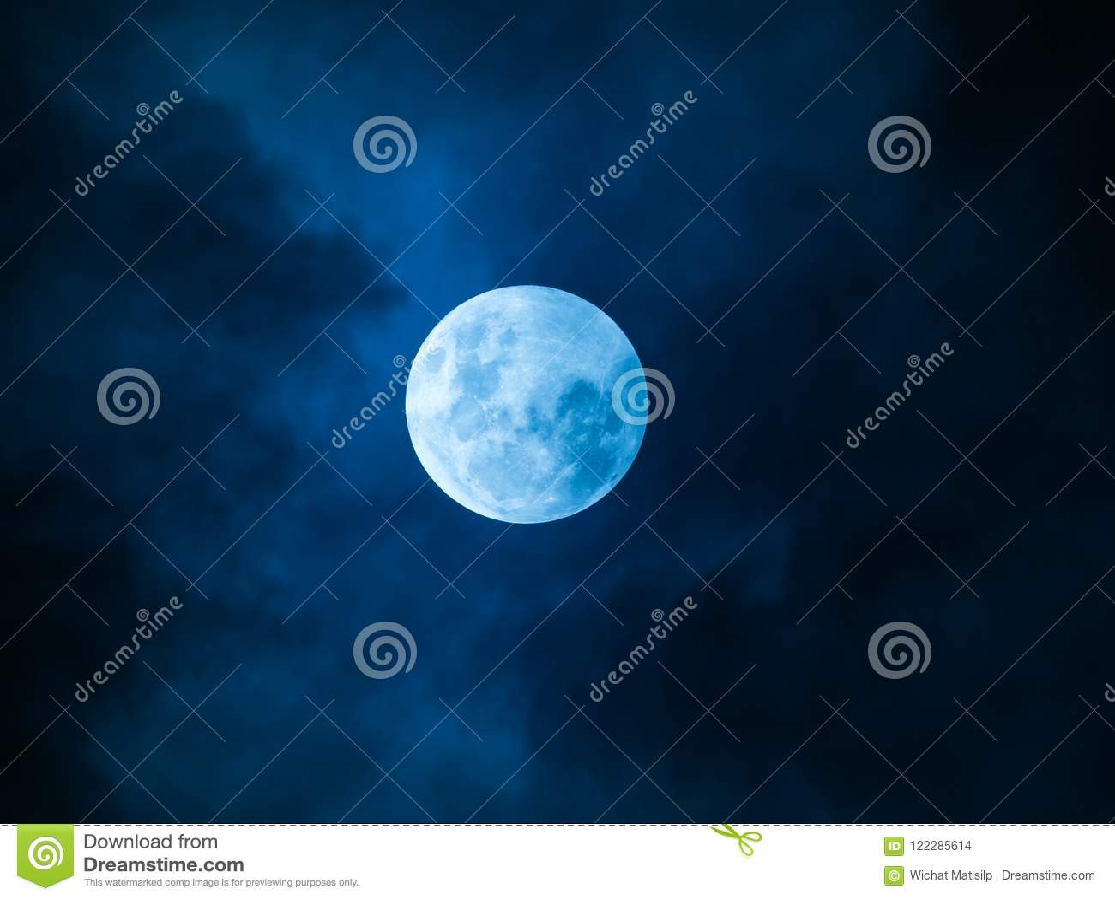 Full Moon Blue Night