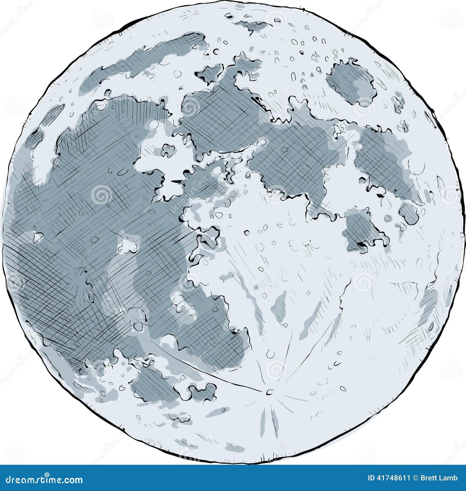 Full Moon Stock Illustration Image 41748611