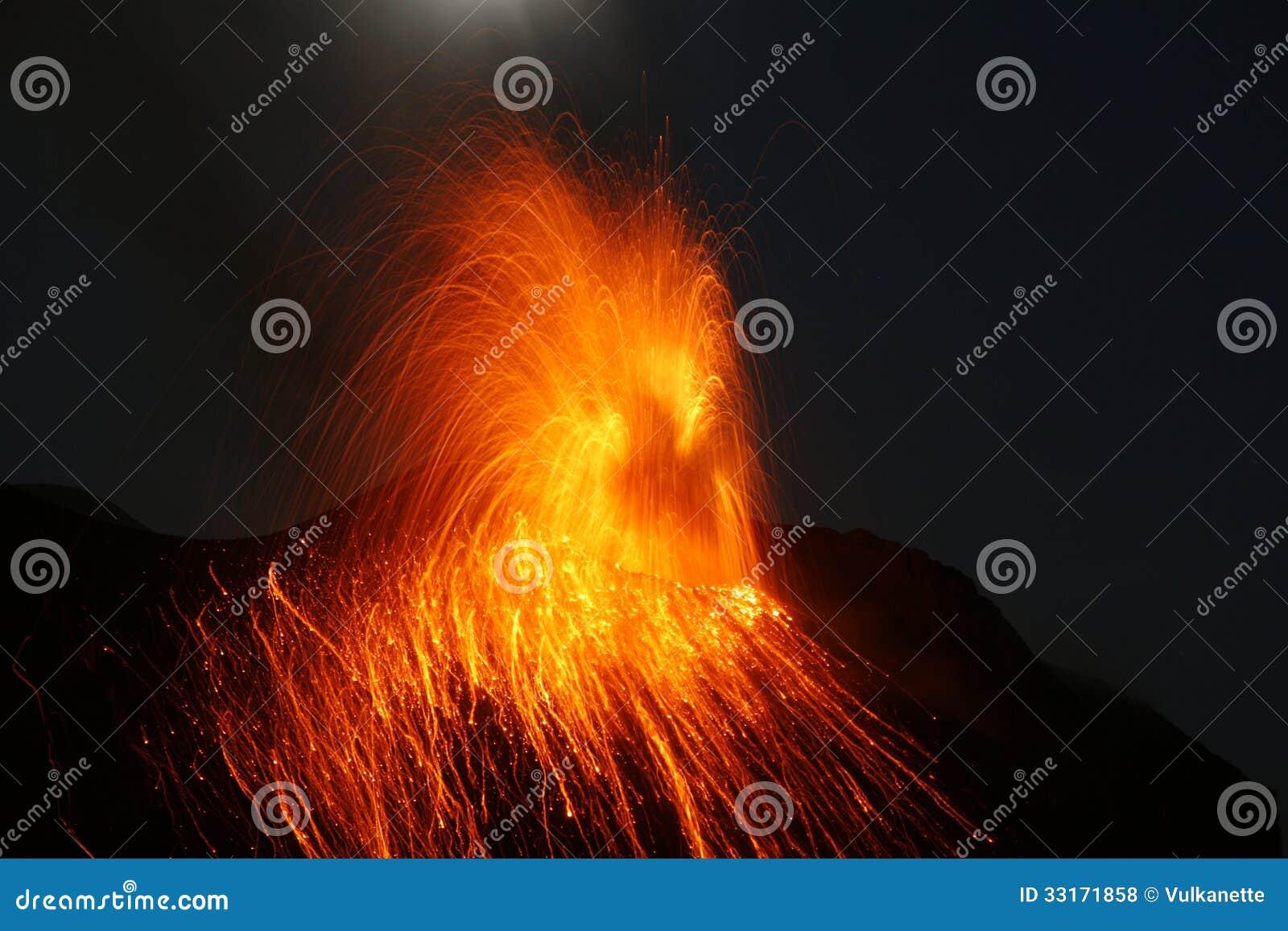 Free Clipart Volcano Erupting