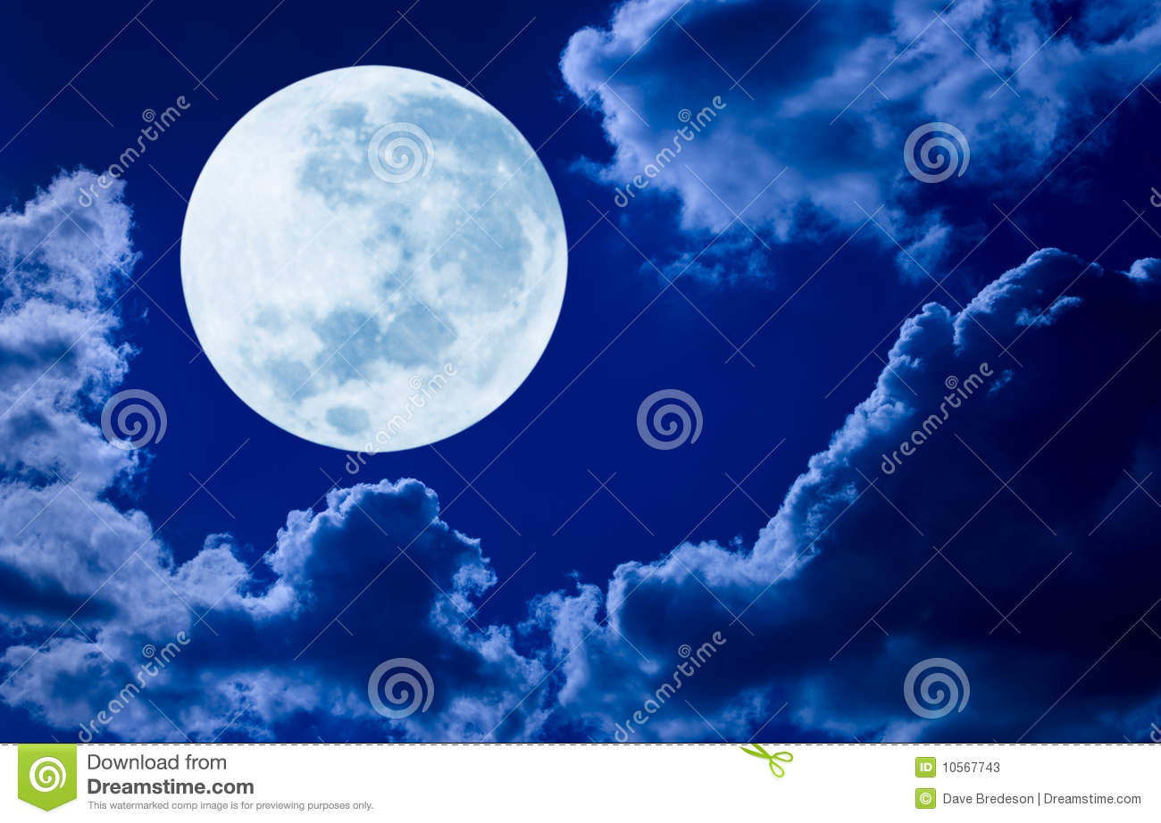 Picture of full moon night download