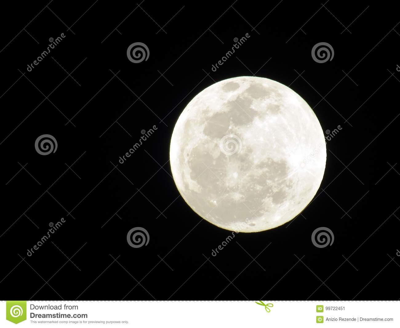 Full Moon Stock Image Image Of Completes Phases Occurs 99722451
