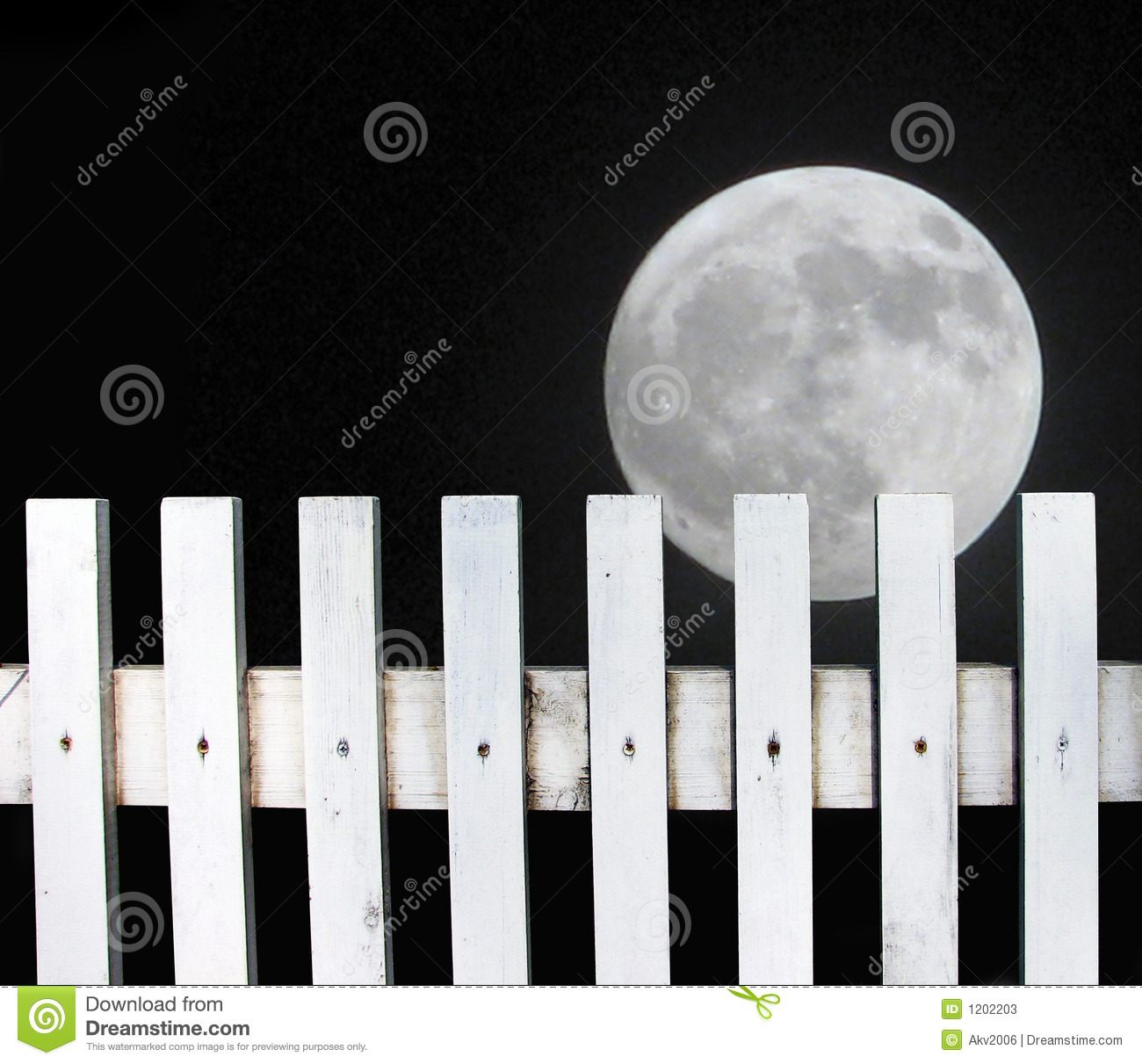 Full moon over the fence