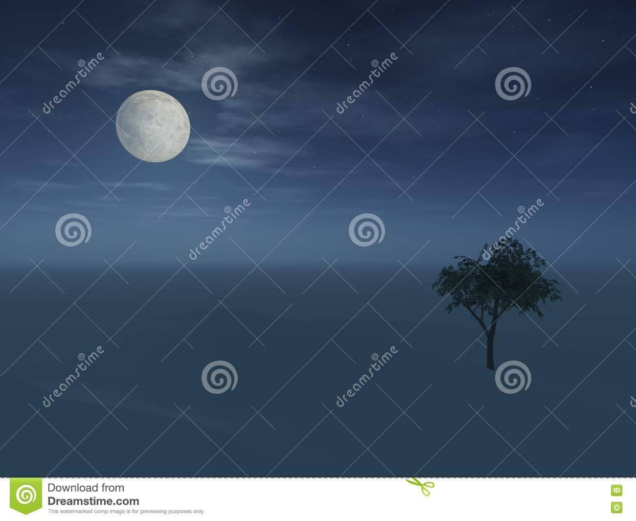 Full Moon Over Hill Picture. Image  6875921 7097e5a229