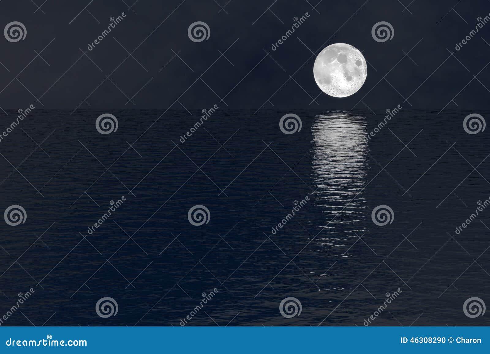 Half Moon Over Ocean
