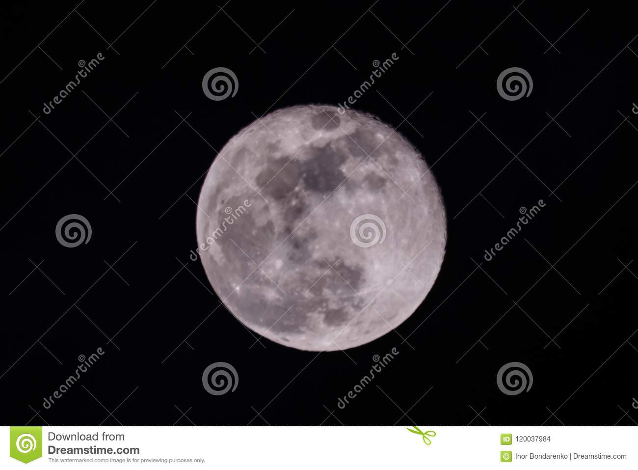 Full moon in a sky at night
