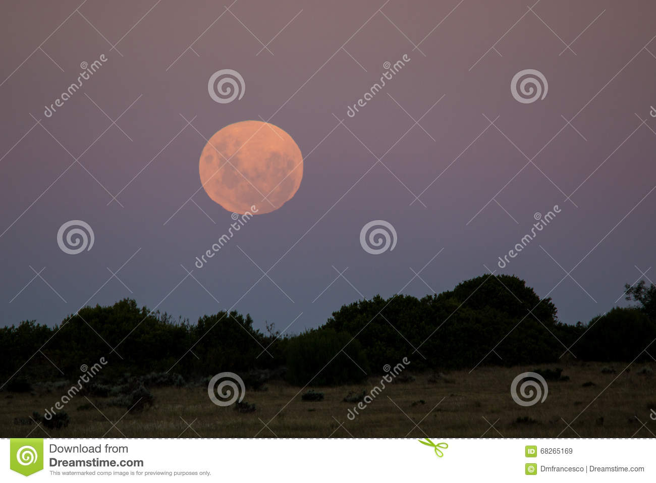 Full moon in the southern hemisphere