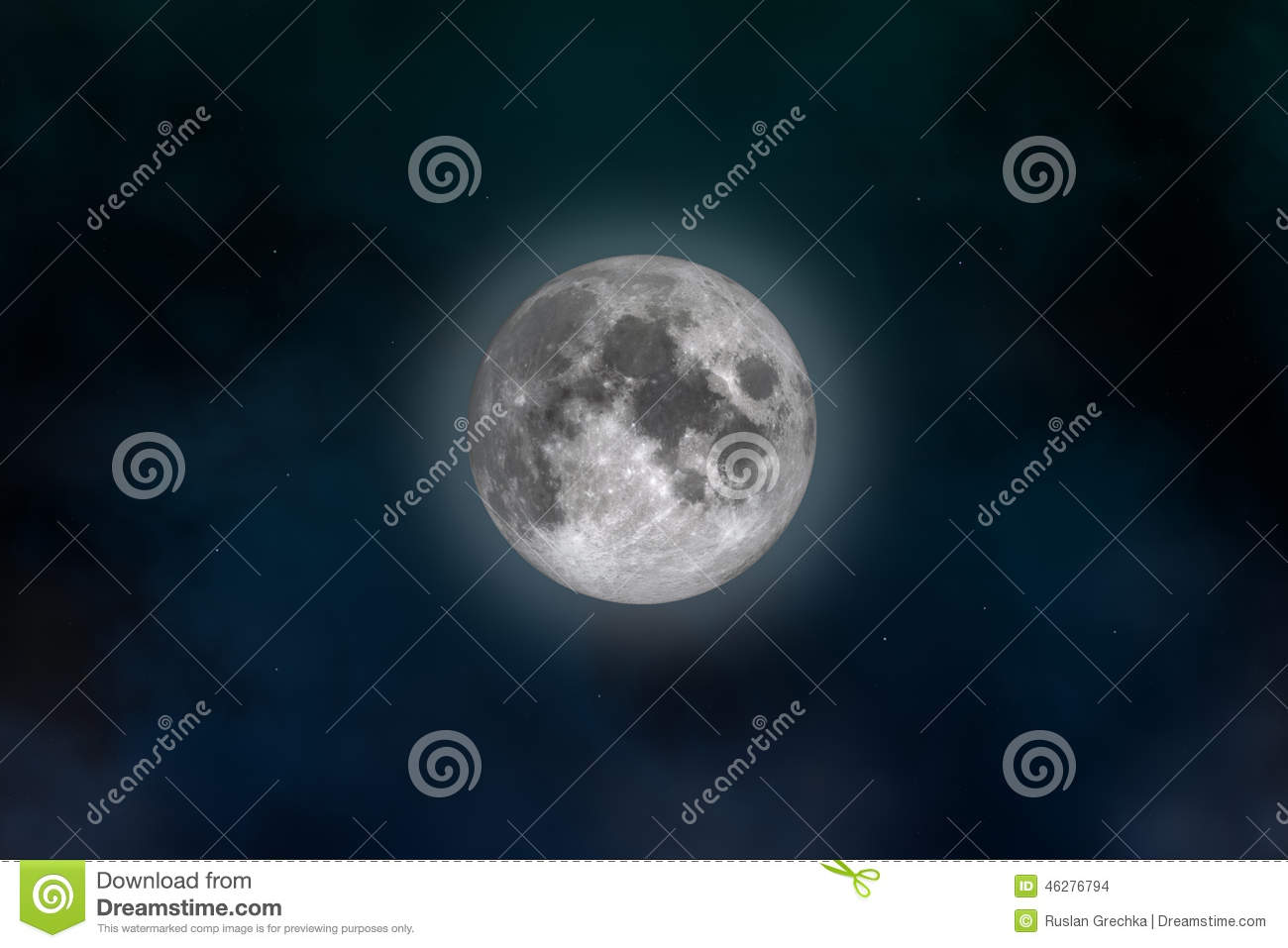 Full moon stock photo image 46276794 for Space created