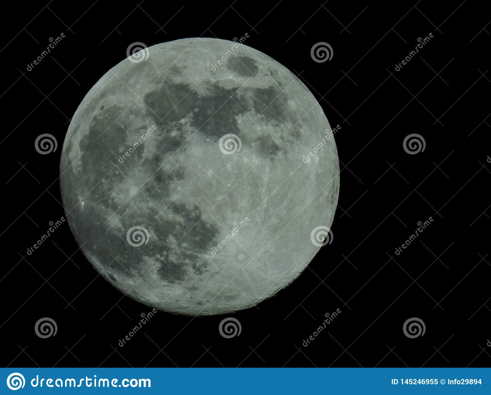 full moon in the starry night sky