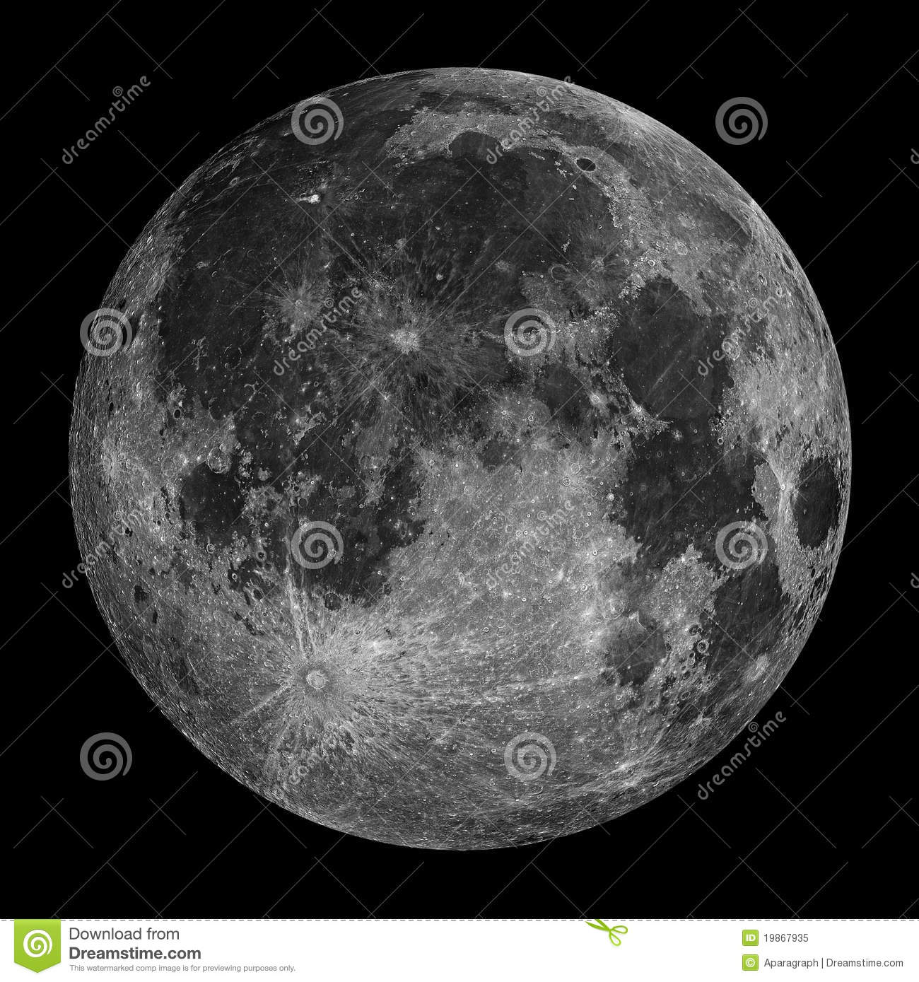 Full Moon With Stars In The Night Sky Royalty Free Stock ...