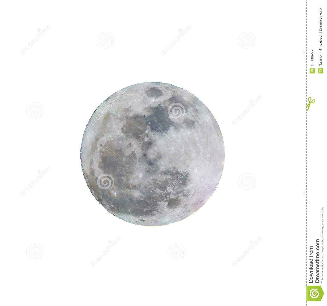 Full moon with white background.
