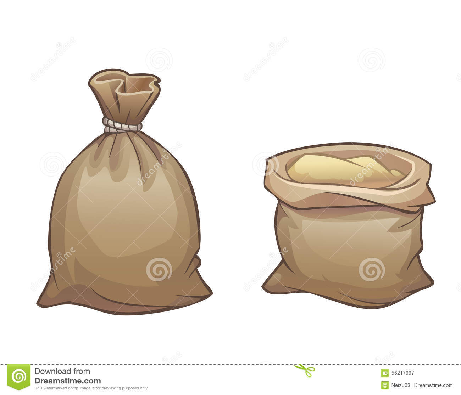 full sack open and close stock illustration image 56217997. Black Bedroom Furniture Sets. Home Design Ideas