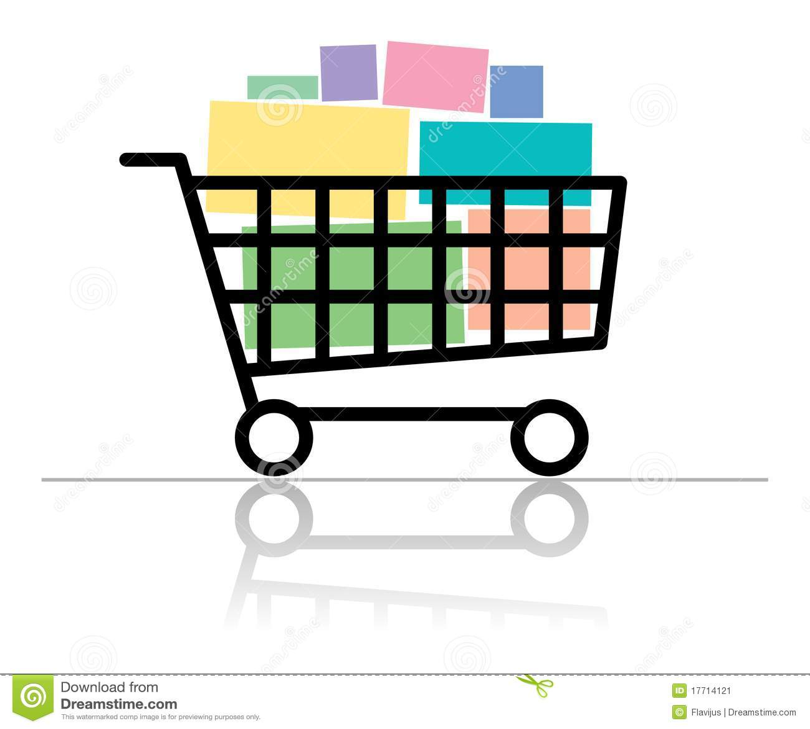 Full Grocery Cart Clipart Full shopping cart