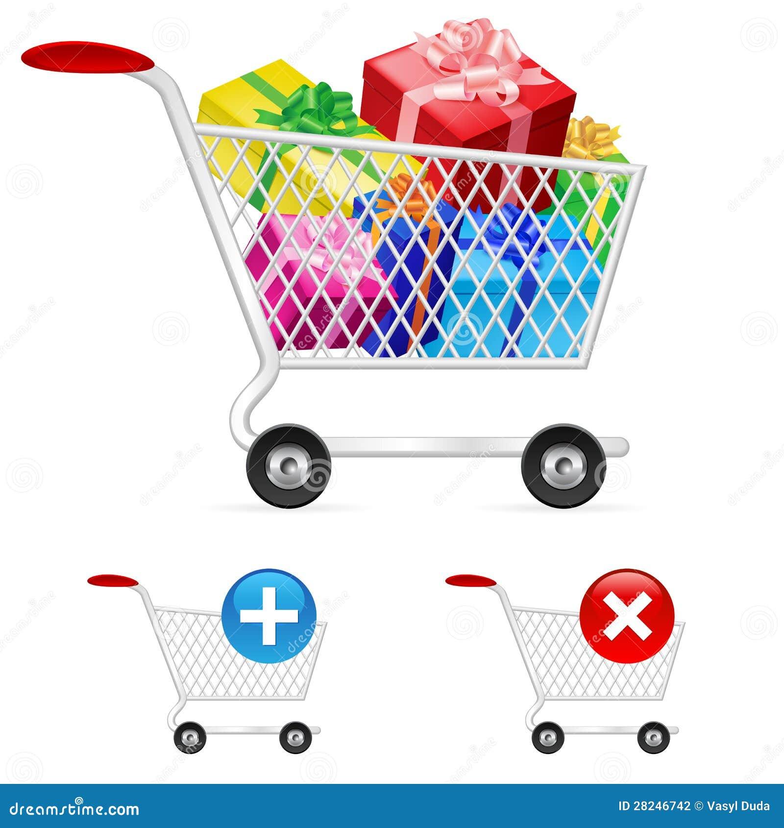Full shoppingvagn