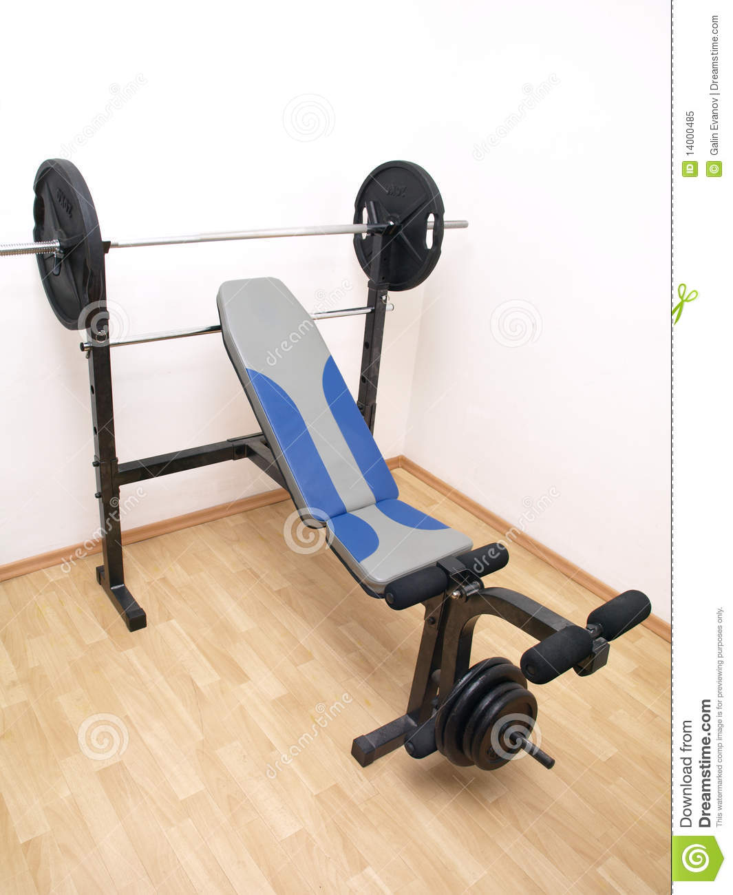 Full Size Bench Press Royalty Free Stock Photo