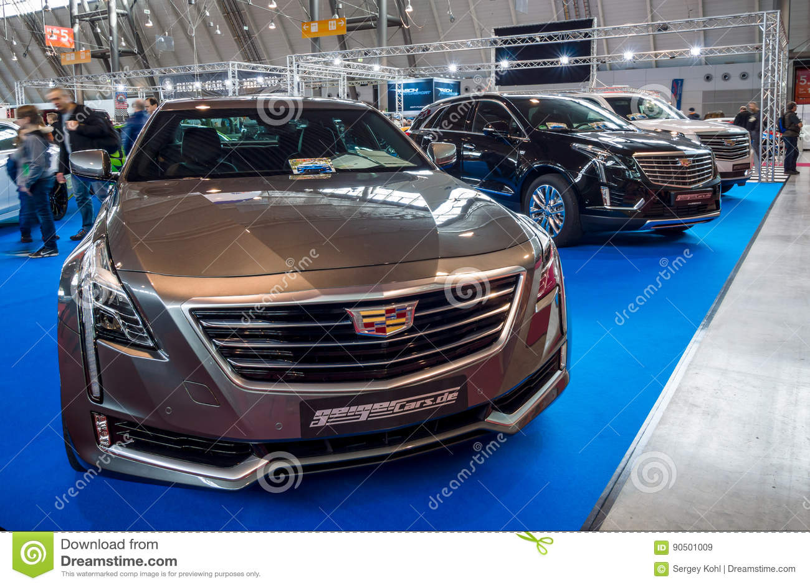Full-size Luxury Car Cadillac CT6 AWD, 2016  Editorial Stock