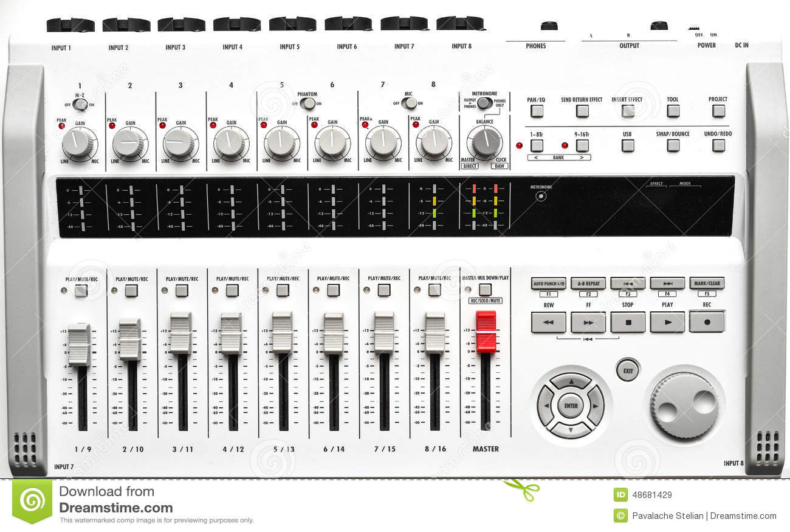 Full size portable digital Sound mixer